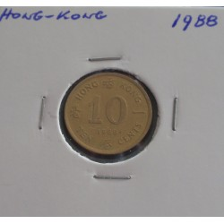 Hong - Kong - 10 Cents - 1988