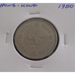 Hong - Kong - 1 Dollar - 1980