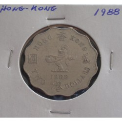 Hong - Kong - 2 Dollar - 1988