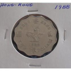 Hong - Kong - 2 Dollars - 1988