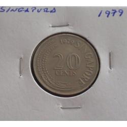 Singapura - 20 Cents - 1979