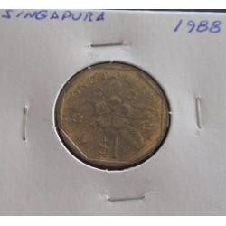 Singapura - 1 Dollar - 1988