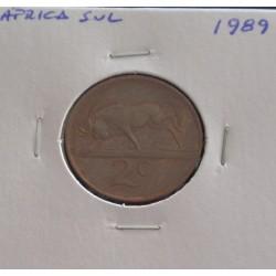 África do Sul - 2 Cents - 1989