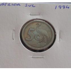 África do Sul - 5 Cents - 1994