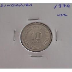 Singapura - 10 Cents - 1974...