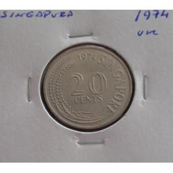 Singapura - 20 Cents - 1974...
