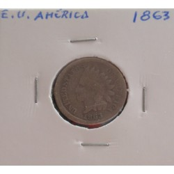 E. U. América - 1 Cent - 1863