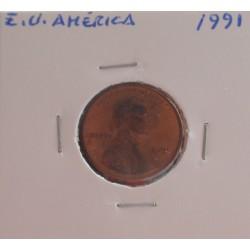 E. U. América - 1 Cent - 1991