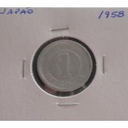 Japão - 1 Yen - 1958