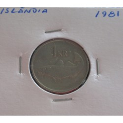Islândia - 1 Krona - 1981