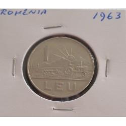 Roménia - 1 Leu - 1963