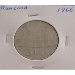 Roménia - 3 Lei - 1966