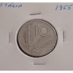 Itália - 10 Lire - 1955