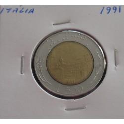 Itália - 500 Lire - 1991