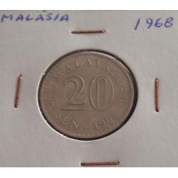 Malásia - 20 Sen - 1968