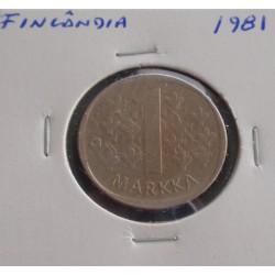 Finlândia - 1 Markka - 1981