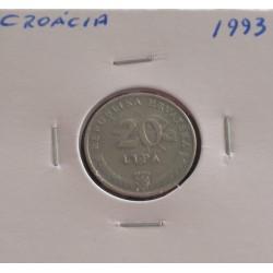 Croácia - 20 Lipa - 1993