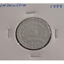 Indonésia - 5 Rupiah - 1979