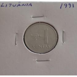 Lituânia - 1 Centas - 1991