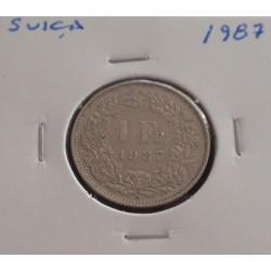 Suiça - 1 Franc - 1987