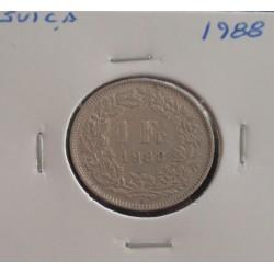 Suiça - 1 Franc - 1988