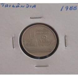 Tailândia - 1 Baht - 1988