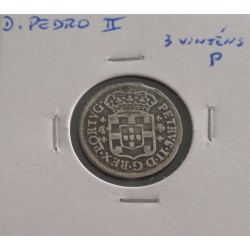 D. Pedro II - 3 Vinténs P -...