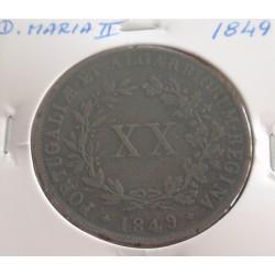 D. Maria II - XX Réis - 1849
