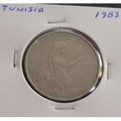 Tunísia - 1 Dinar - 1983