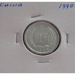 China - 2 Fen - 1990