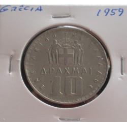 Grécia - 10 Drachmai - 1959