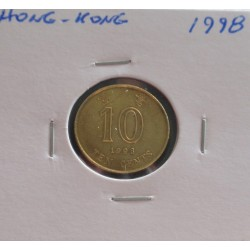Hong - Kong - 10 Cents - 1998