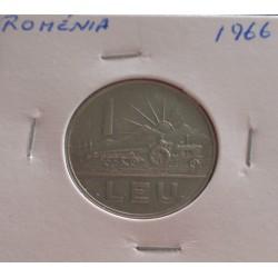 Roménia - 1 Leu - 1966