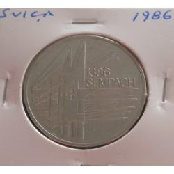 Suiça - 5 Francs - 1986 -...