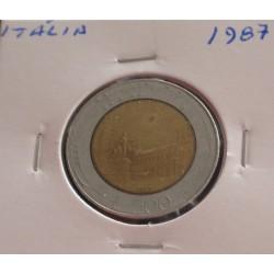 Itália - 500 Lire - 1987