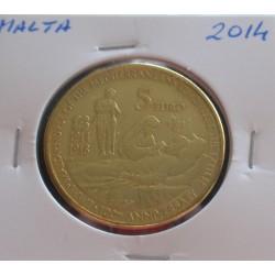 Malta - 5 Euro - 2014