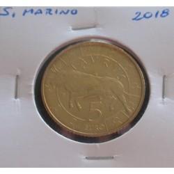 S. Marino - 5 Euro - 2018