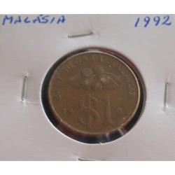 Malásia - 1 Ringgit - 1992