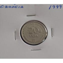 Croácia - 20 Lipa - 1999