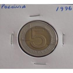 Polónia - 5 Zlotych - 1996