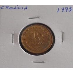 Croácia - 10 Lipa - 1993