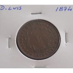 D. Luis - V Réis - 1874