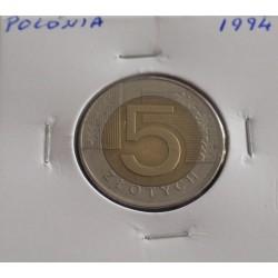 Polónia - 5 Zlotych - 1994