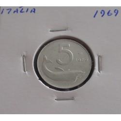 Itália - 5 Lire - 1969