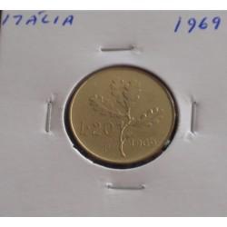 Itália - 20 Lire - 1969