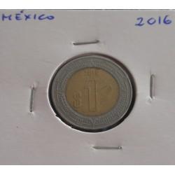 México - 1 Peso - 2016