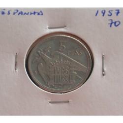 Espanha - 5 Pesetas - 1957-70