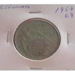 Espanha - 25 Pesetas - 1957-69