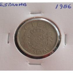Espanha - 100 Pesetas - 1986