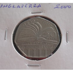 Inglaterra - 50 Pence - 2000